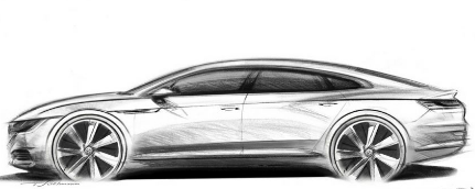 汽车头条:大众Arteon在草图中嘲讽了大众CC的替代品