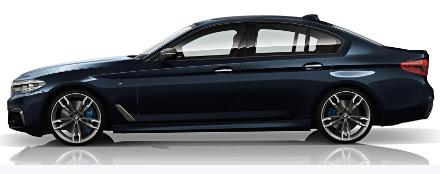 新款宝马 5系 M550d具有3.0升六缸发动机 由四个涡轮增压