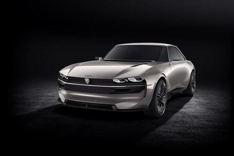 标志e-Legend概念车将在下个月的巴黎车展上首次公开亮相之前展示