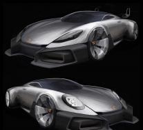 保时捷渲染的入门级GT跑车看起来格外合适