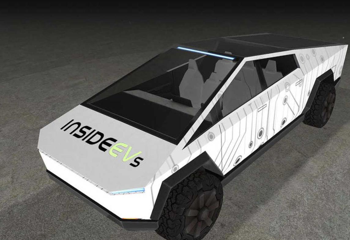 这款Tesla Cybertruck设计展示台既有趣又实用