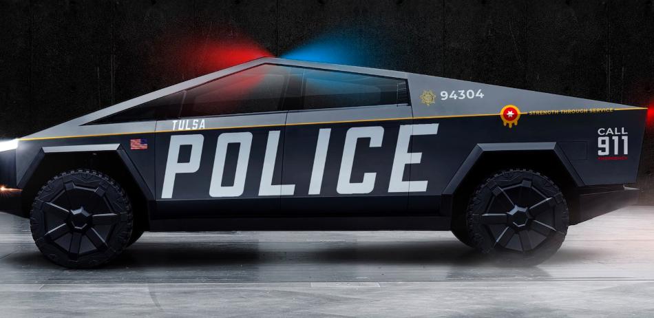 这款Tulsa PD Cybertruck的任务是将特斯拉汽车带到俄克拉荷马州