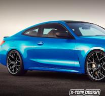 2021年宝马M4 CGI看起来像蓝色,带有混合动力技术