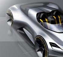 保时捷Speedster Sketch电动汽车