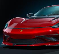 宾尼法利纳·巴蒂斯塔(Pininfarina Battista)CGI获得了法拉利徽章