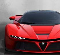 阿尔法罗密欧LaFerrari看起来像终极的意大利超级跑车