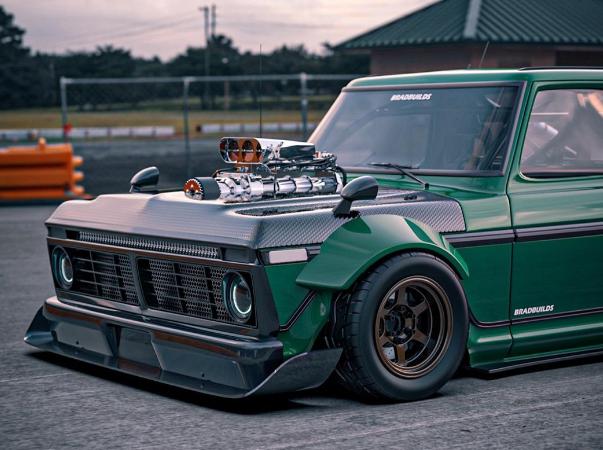 福特F-150看起来像老式漂移车之王