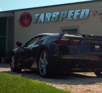 带有弯头排气管的Fabspeed C8 Corvette
