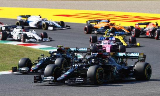 梅赛德斯AMG在2020年一级方程式托斯卡纳大奖赛中名列前茅