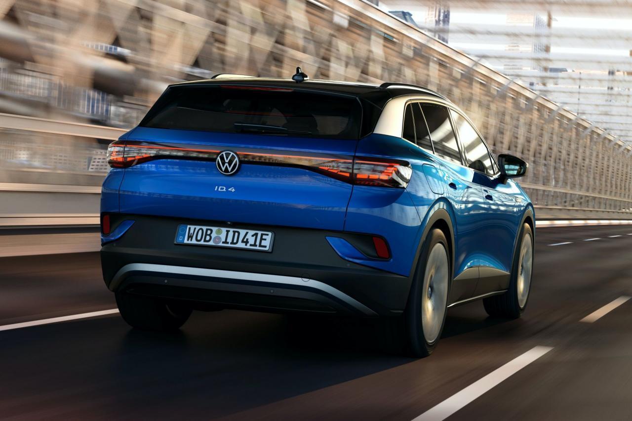 2021大众 ID.4 EV提供250英里范围,201HP RWD动力总成,售价$ 39,995