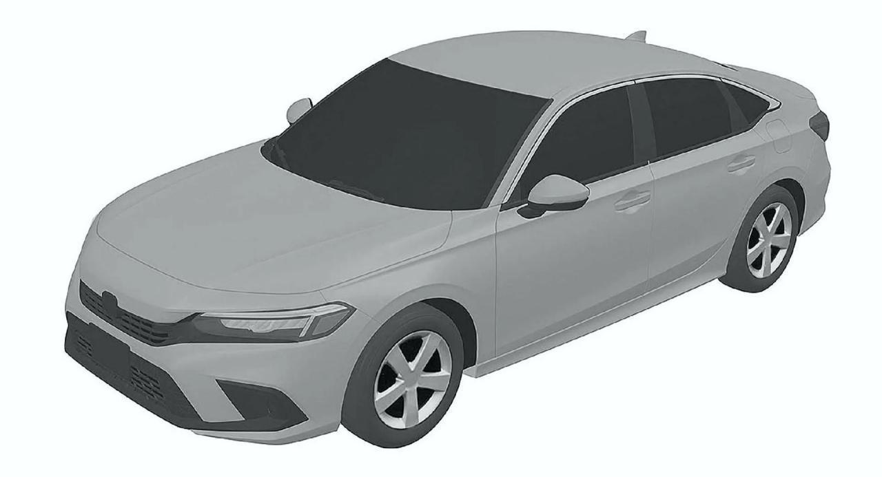 2022年本田思域轿车看起来像专利协议中的较小协议