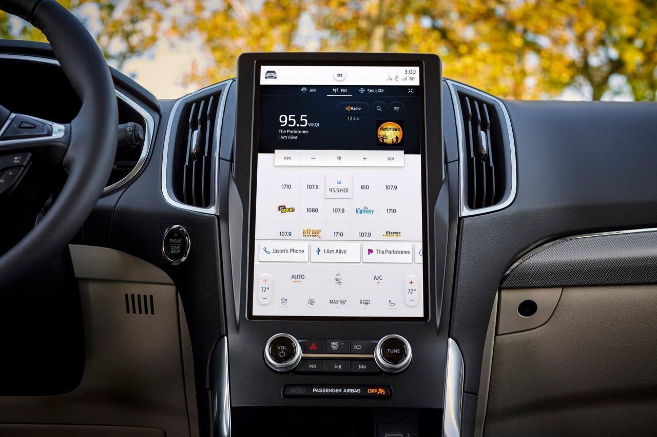 2021年福特Edge获得新的12英寸SYNC 4信息娱乐系统