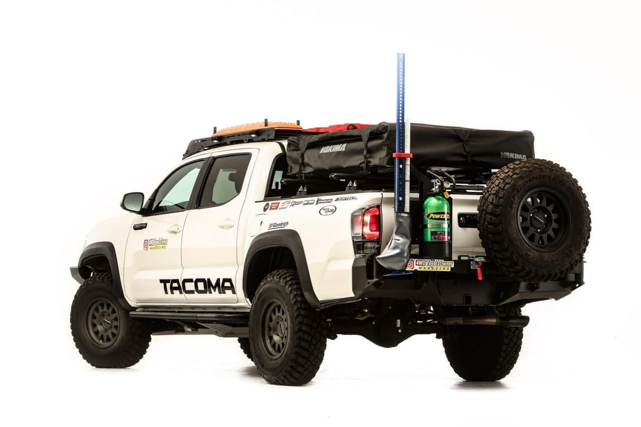 丰田陆上准备就绪的塔科马结合了坚固的外观和增压的V6