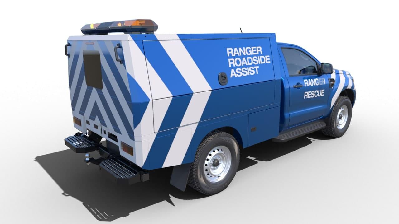 福特在欧洲推出游侠底盘驾驶室卡车进行特殊改装