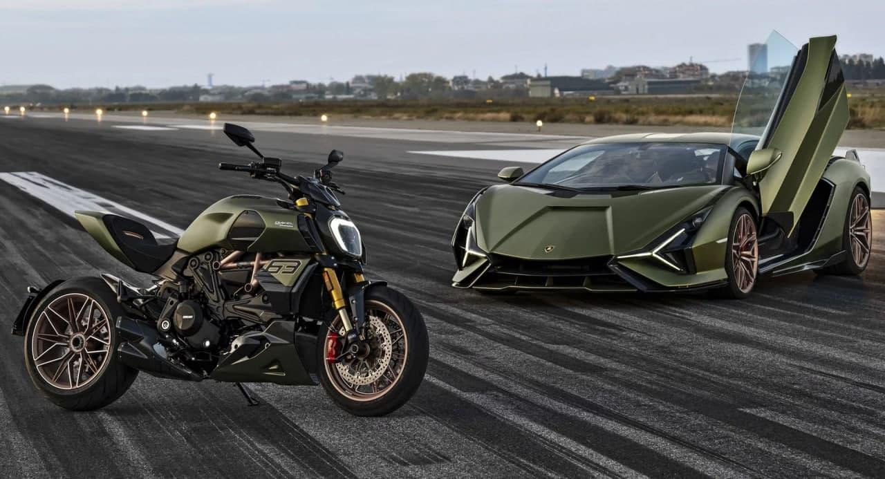 汽车动态:杜卡迪Diavel 1260兰博基尼首次亮相是受Sian FKP 37启发的限量版摩托车
