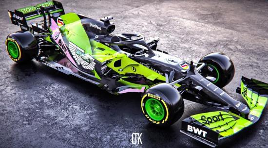 这是阿斯顿·马丁F1汽车的外观吗?