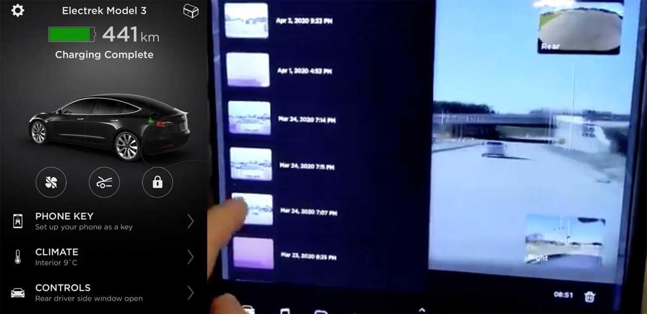 特斯拉更新将允许司机远程查看摄像头