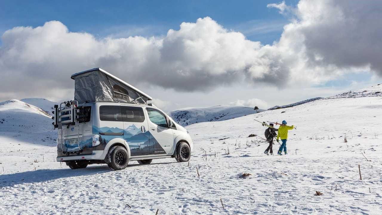 日产推出e-NV200冬季露营概念车
