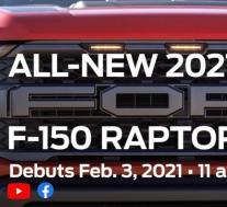 福特预览2021 F-150 Raptor,宣布2月3日揭晓