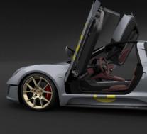 保时捷最近为其2016年设计的野外跑车概念申请了专利图纸