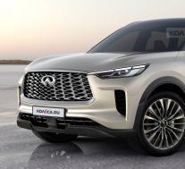 2022英菲尼迪QX60插图展示了生产型SUV的外观