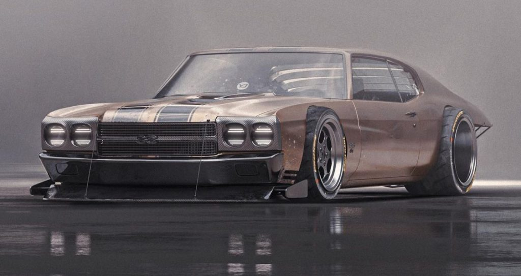 大量修改的Chevelle SS渲染带来了粗糙和原始的氛围