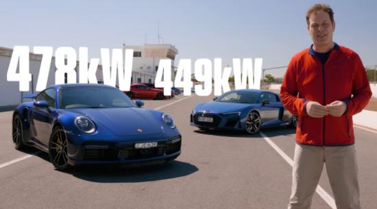 2021年保时捷911 Turbo S与奥迪R8 V10加速测试的结果