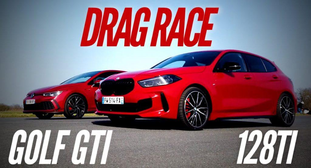 宝马128ti飙车大众高尔夫GTI,你能认出谁是获胜者吗?