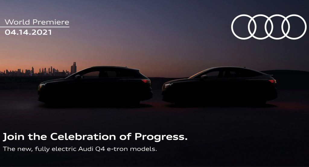 奥迪Q4 E-Tron和Q4 E-Tron Sportback将于4月14日首次亮相
