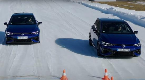 大众通过大量雪地测试展示新款高尔夫R的实力