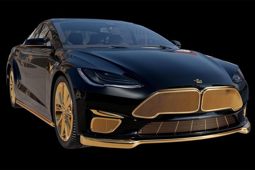 世界上最昂贵的特斯拉覆盖着黄金