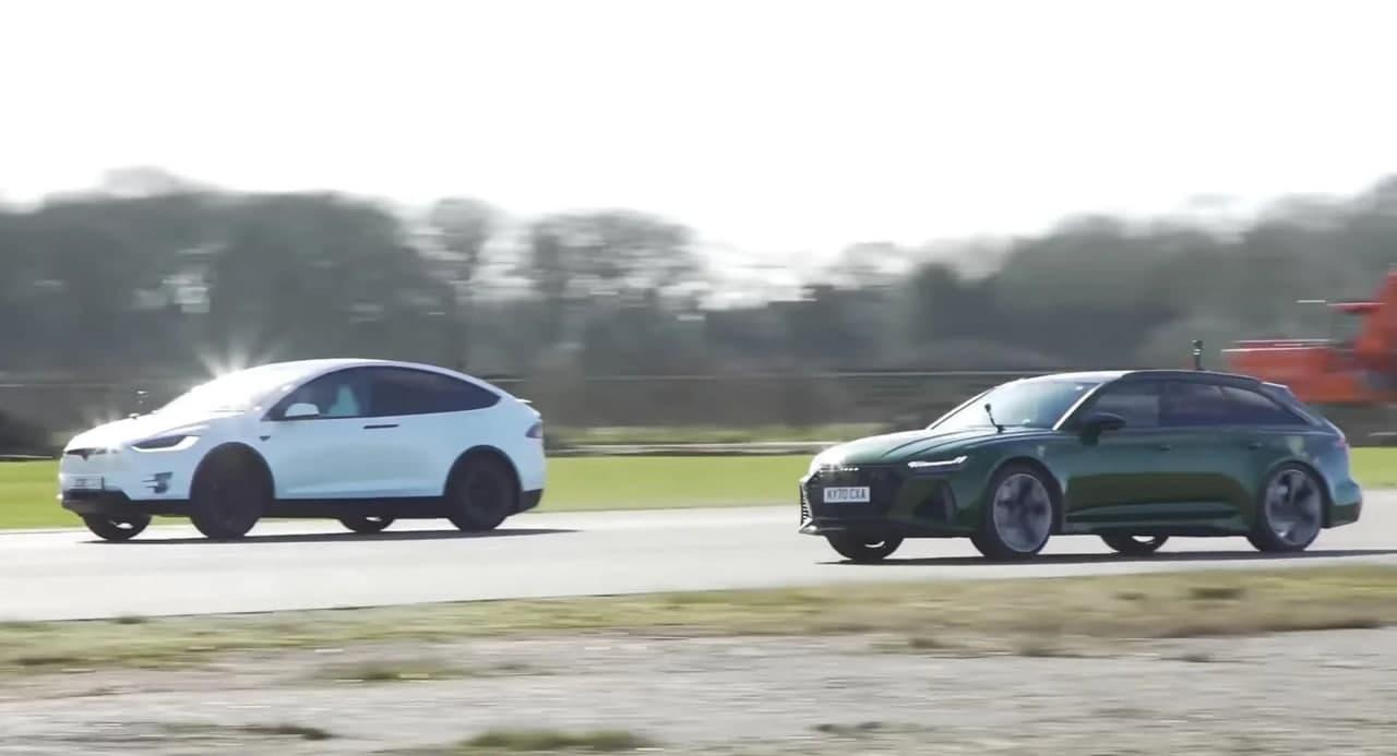 汽车动态:奥迪RS6Avant力争在与特斯拉Model X 的拉力赛中保持领先地位