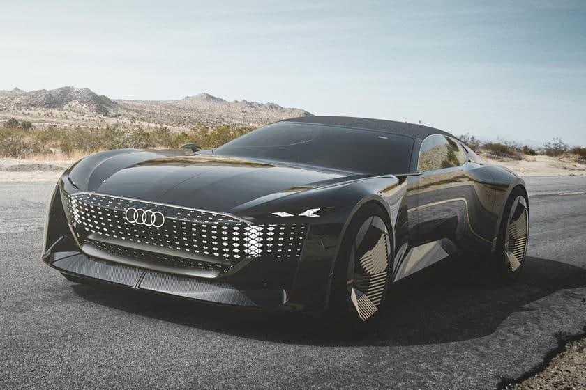 奥迪skysphere概念车是一款 624 马力的变形跑车